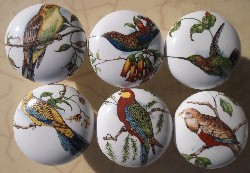 Cabinet knobs 6 Domestic Birds #9